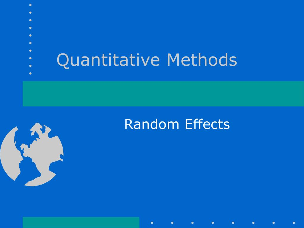 quantitative methods l.