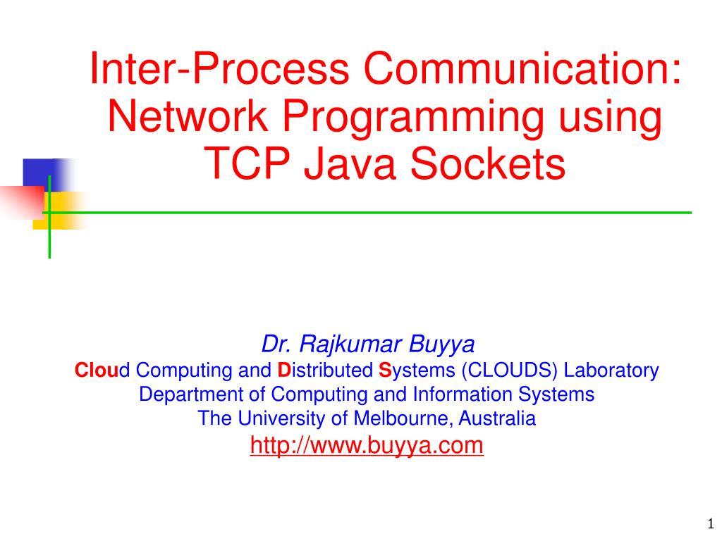 inter process communication network programming using tcp java sockets l.
