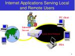 internet applications serving local and remote users