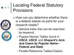 locating federal statutory provisions