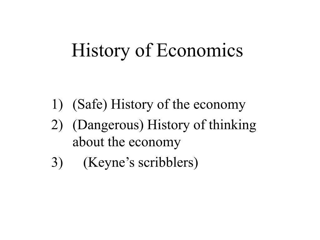 history of economics l.