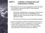 ssap 5 liabilities contingencies and impairments of assets7