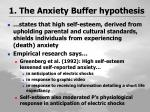 1 the anxiety buffer hypothesis