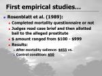 first empirical studies