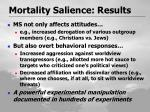 mortality salience results
