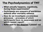 the psychodynamics of tmt