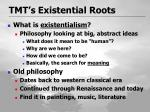 tmt s existential roots