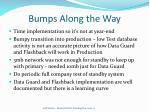 bumps along the way