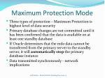 maximum protection mode