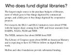 who does fund digital libraries