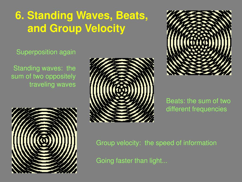 6 standing waves beats and group velocity l.
