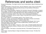 references and works cited