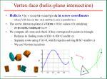 vertex face helix plane intersection