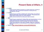 present state of affairs 4