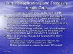 current applications and trends in health care computer based patient record cpr