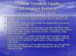 current trends in health information systems e commerce and e health