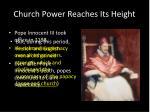 church power reaches its height