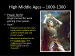 high middle ages 1000 13006