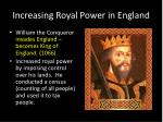 increasing royal power in england