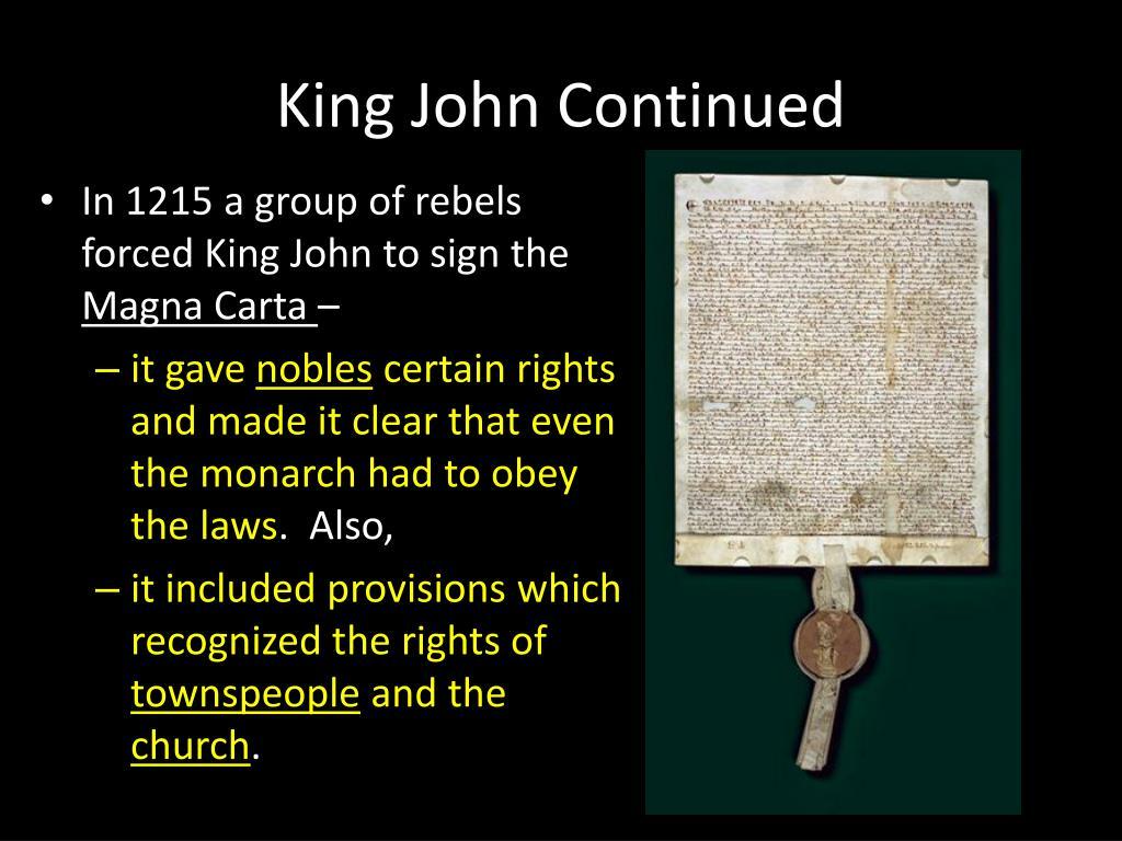 King John Continued