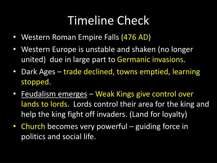 Timeline check