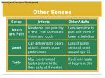 other senses