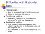 difficulties with first order logic