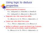 using logic to deduce properties
