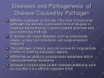 diseases and pathogenesis of disease caused by pathogen