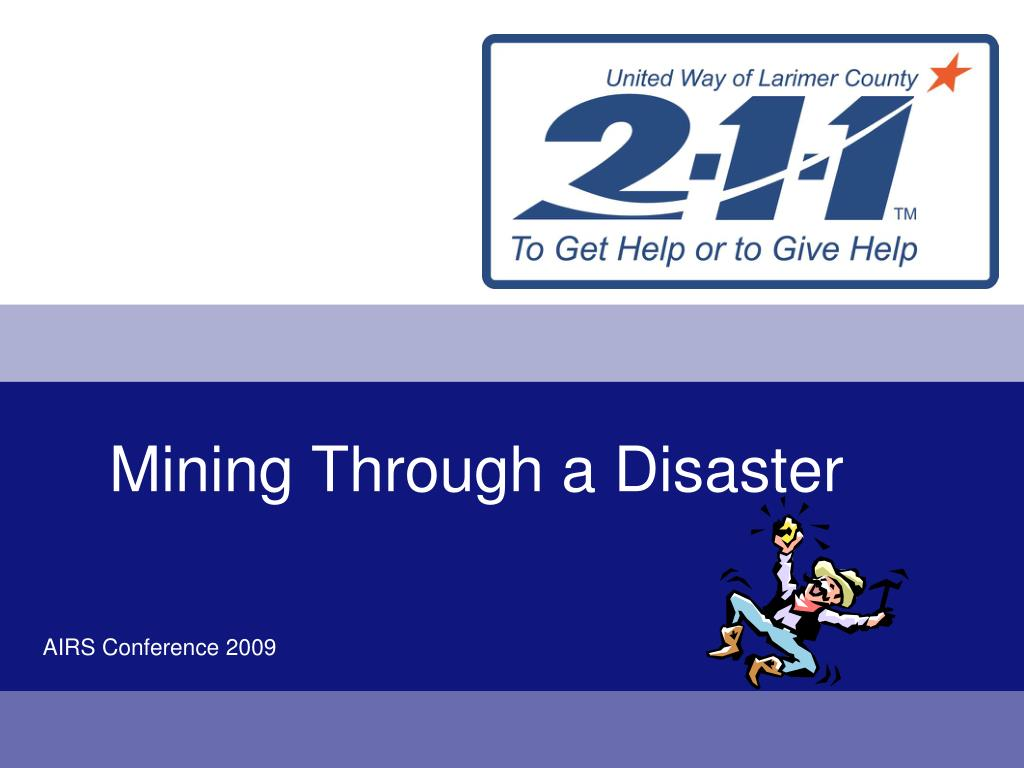mining through a disaster l.
