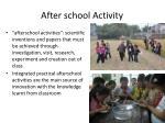 after school activity