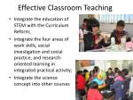 effective classroom teaching