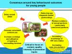 consensus around key behavioural outcomes for young people