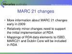 marc 21 changes