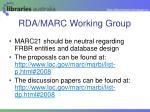 rda marc working group