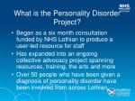 what is the personality disorder project18