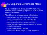 a 5 corporate governance model