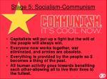 stage 5 socialism communism