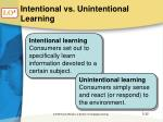 intentional vs unintentional learning
