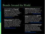 brands around the world