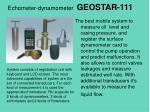 echometer dynamometer geostar 111