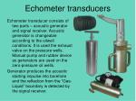 echometer transducers