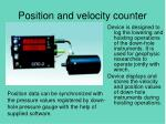 position and velocity counter