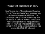twain first published in 1872