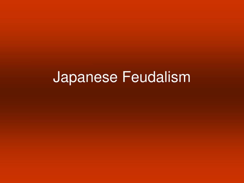 japanese feudalism l.