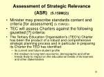 assessment of strategic relevance asr s 159m 2