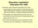 education legislation education act 1989
