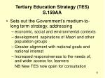 tertiary education strategy tes s 159aa