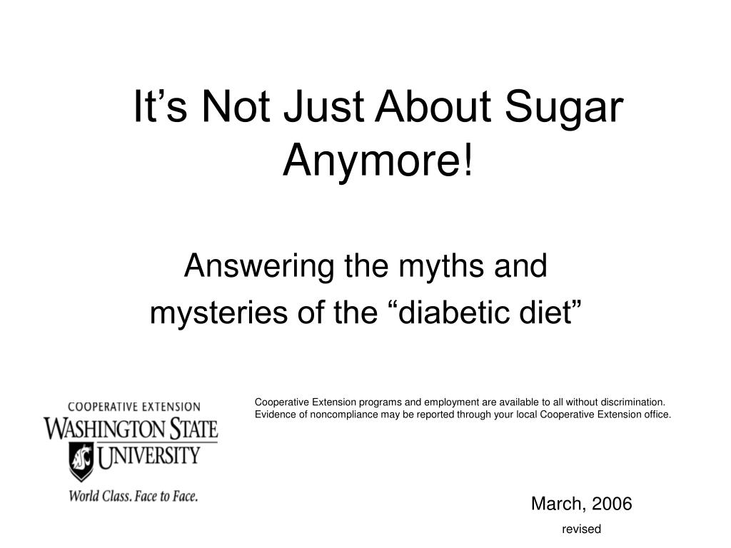 it s not just about sugar anymore l.