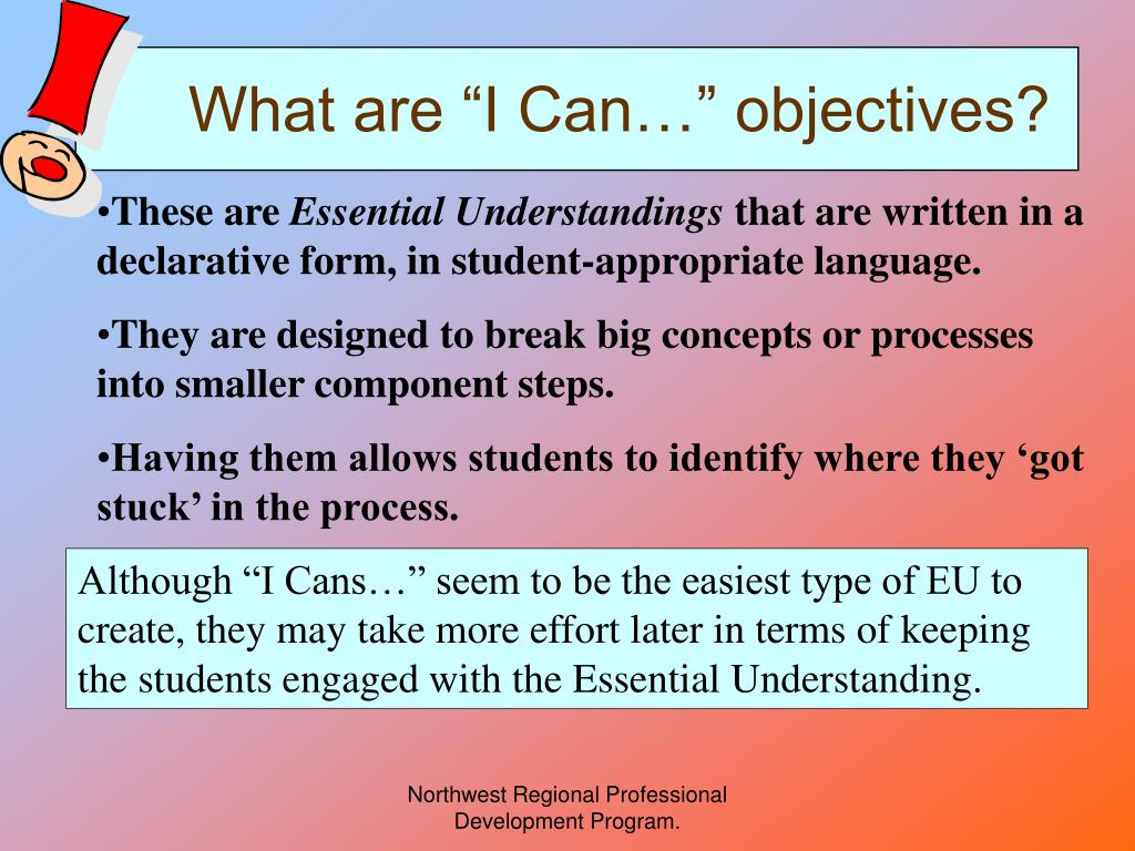what are i can objectives l.